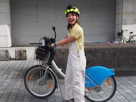 自転車を使って